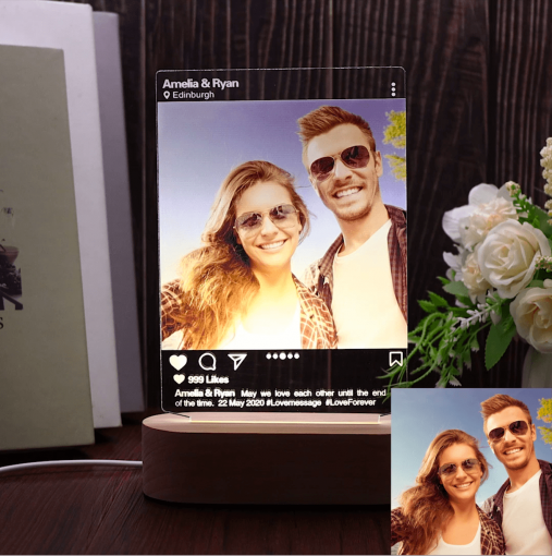 Instagram Style 3D Led Lamp Gift – Personalized Anniversary Gift