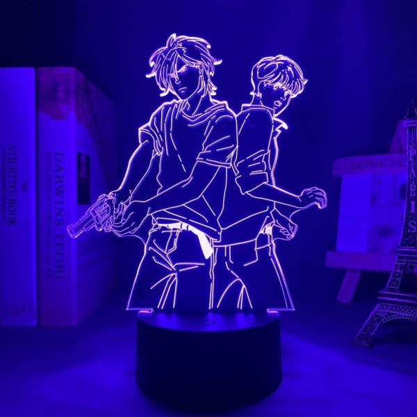 Ash Lynx and Eiji Okumura Led Anime Lamp (Banana Fish)