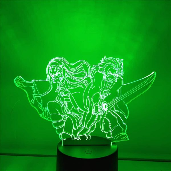 Tanjiro and Nezuko Led Anime Lamp (Demon Slayer)