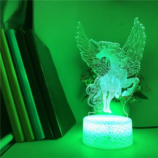 Unicorn 3D Illusion Led Lamp