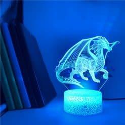 Western Dragon 3D Illusion Led Lamp