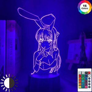Waifu Mai Sakurajima Led Anime Lamp (Bunny Girl Senpai)