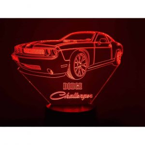 Dodge Challenger 3D-Illusions-LED-Lampe