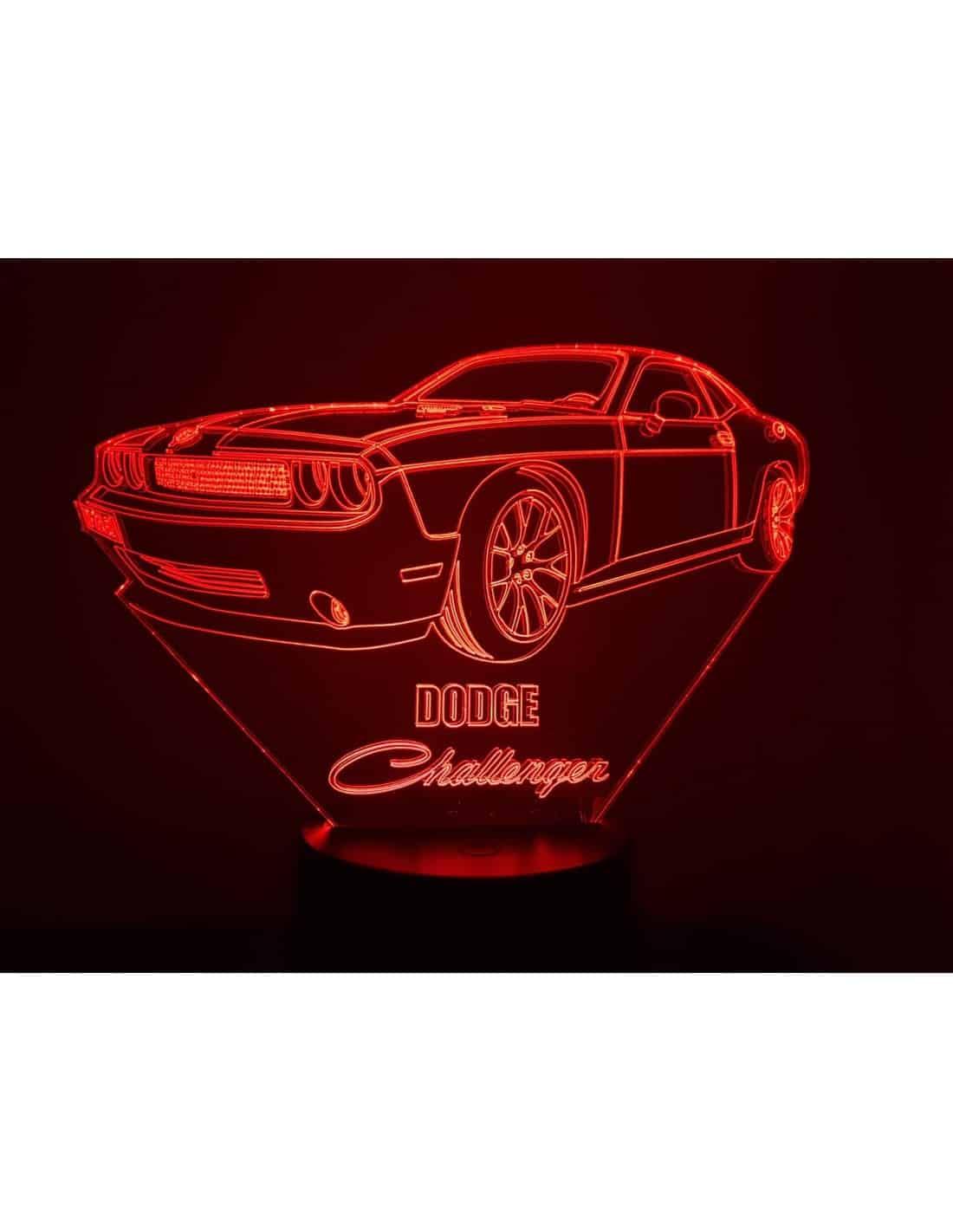 Dodge Challenger 3D Illusion Led Lamp