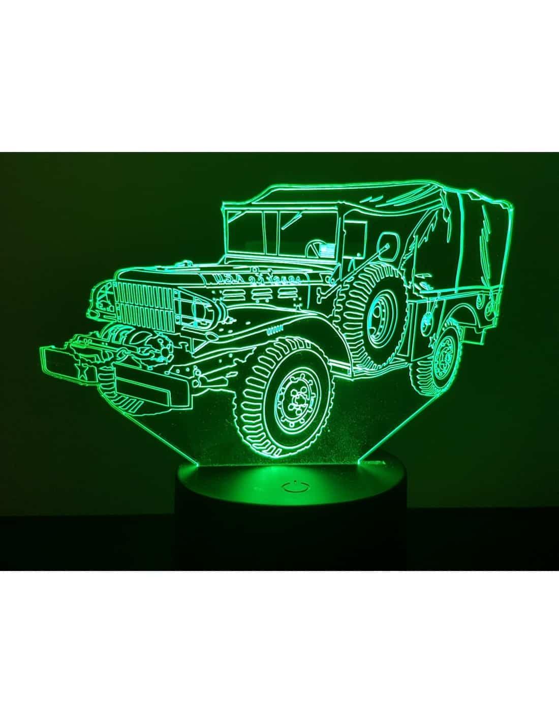 Dodge WC 52 3D Illusion Led Lamp