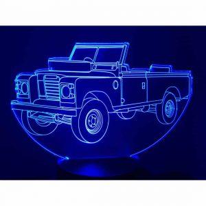 Land Rover Santana 109 3D Illusion Led Lamp