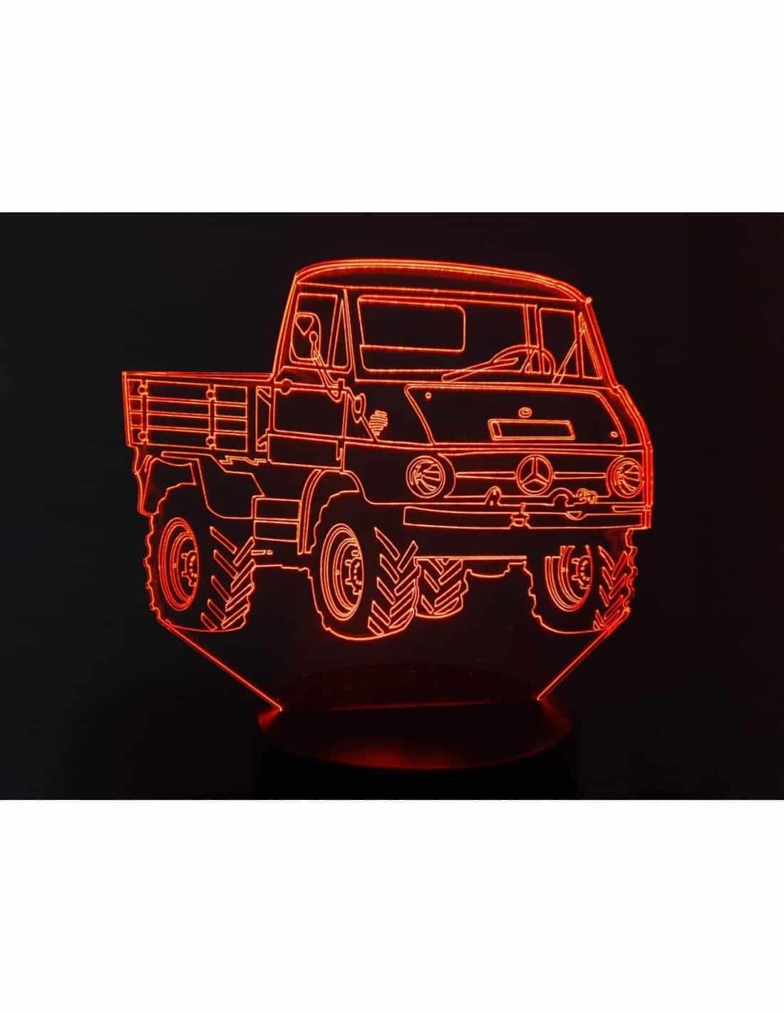Mercedes Unimog 411 3D Illusion Led Lamp