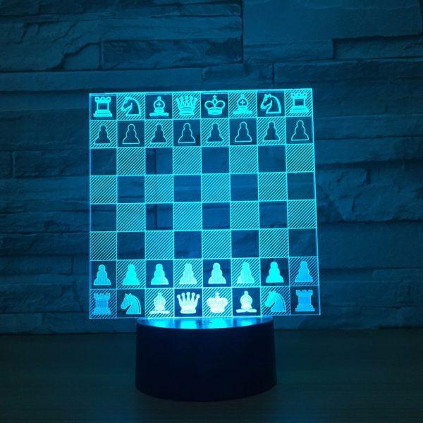 2020 Chess Set 3D Illusion Led Lamp