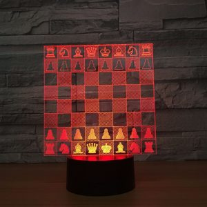 2020 Chess Set 3D Illusion Led Lamp