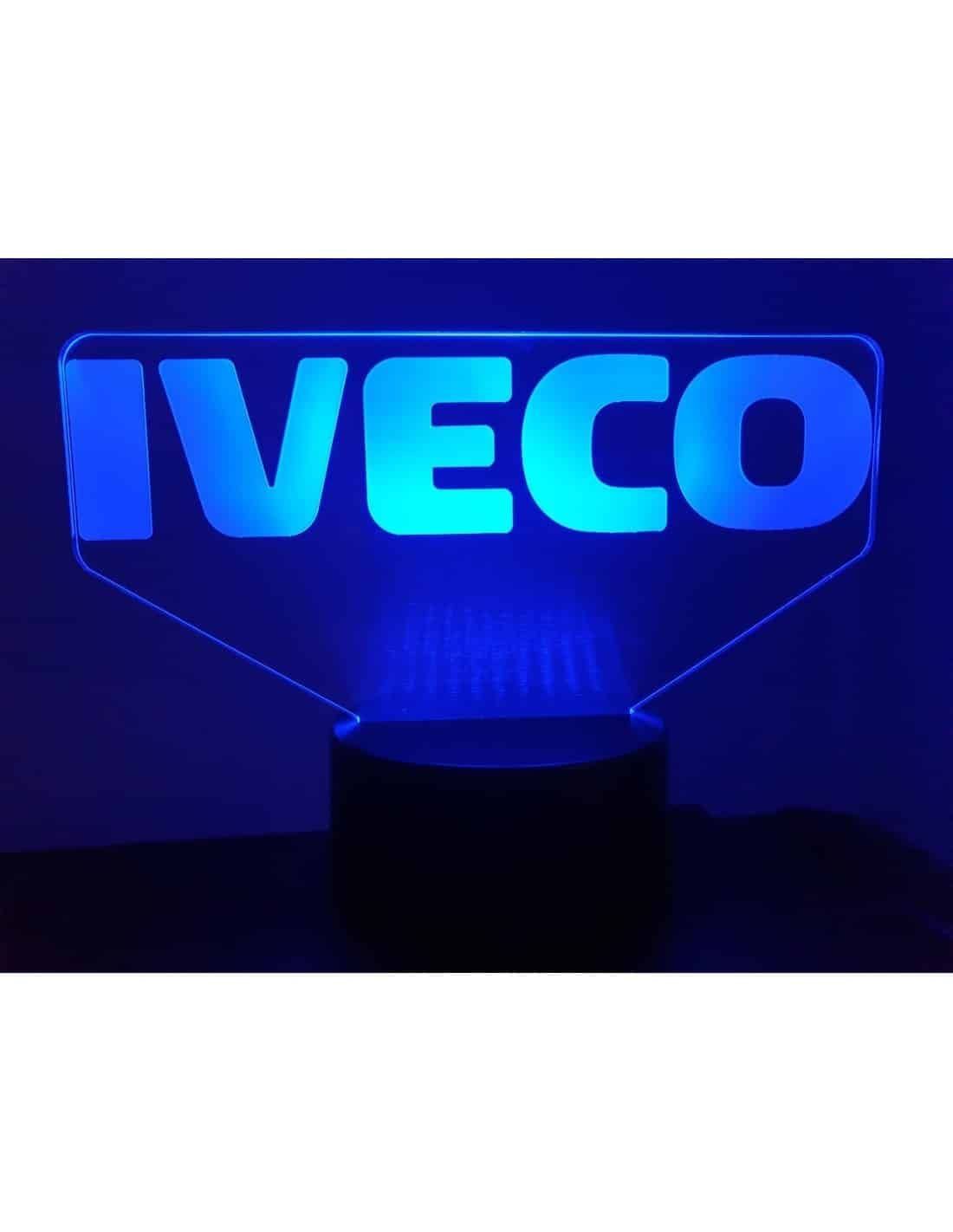 Logo Iveco 3D Illusion Led Lamp