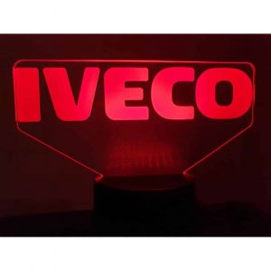 Logo Iveco 3D Illusion Led Lampe