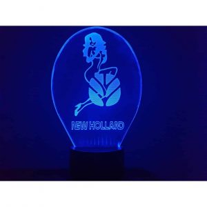 New Holland Girl Logo 3D Illusion Led Lamp