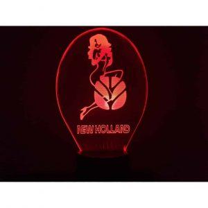 New Holland Girl Logo 3D Illusion Led Lamp