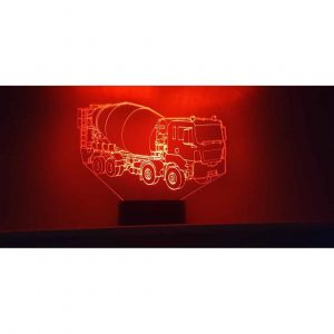 Concrete Mixer 3D Illusion Led Lamp