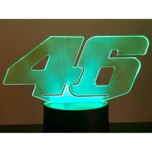 Valentino Rossi 46 3D Illusion Led Lamp