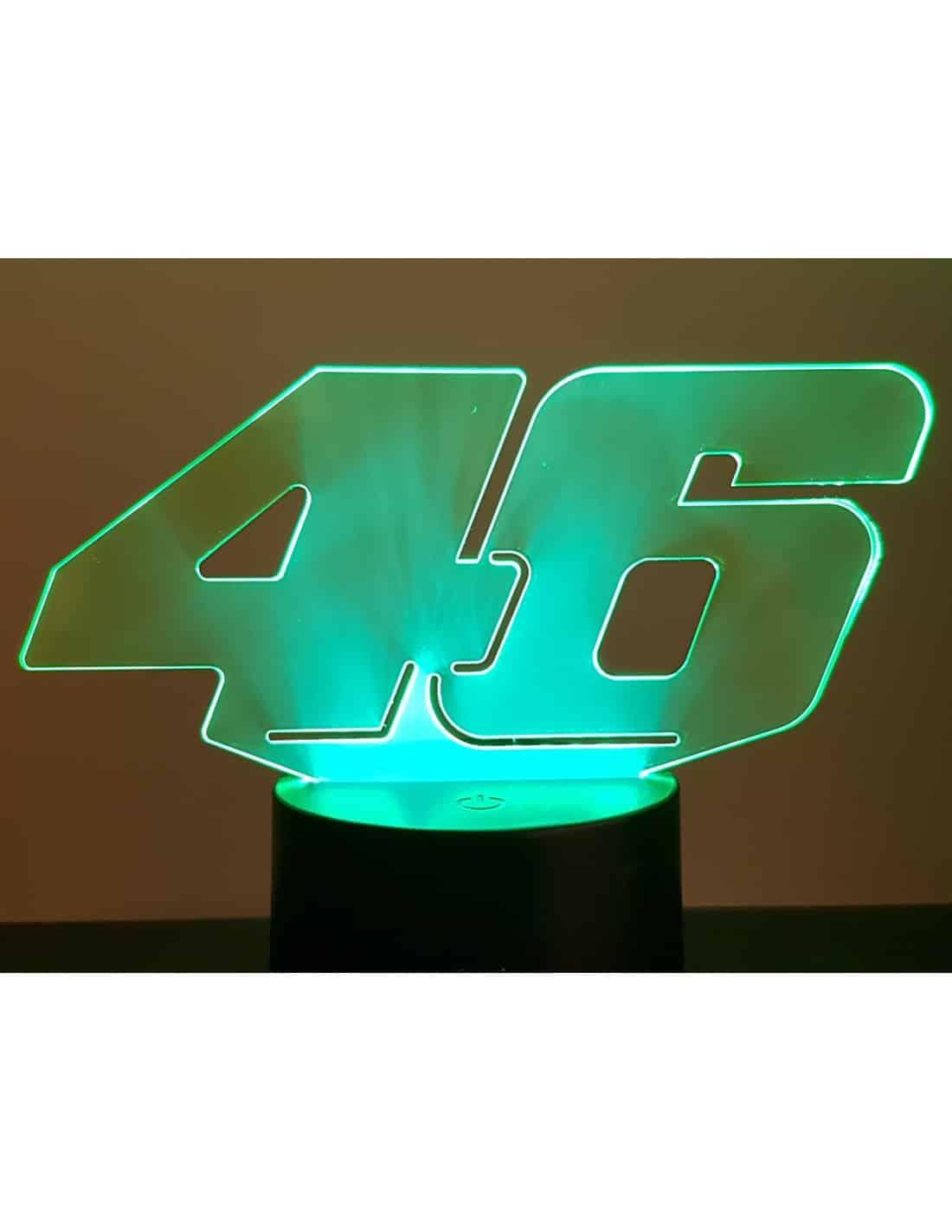 Valentino Rossi 46 3D Illusion Led Lamp