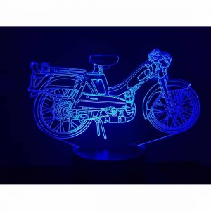 Motobecane Bleue 3D Illusion Led Lamp