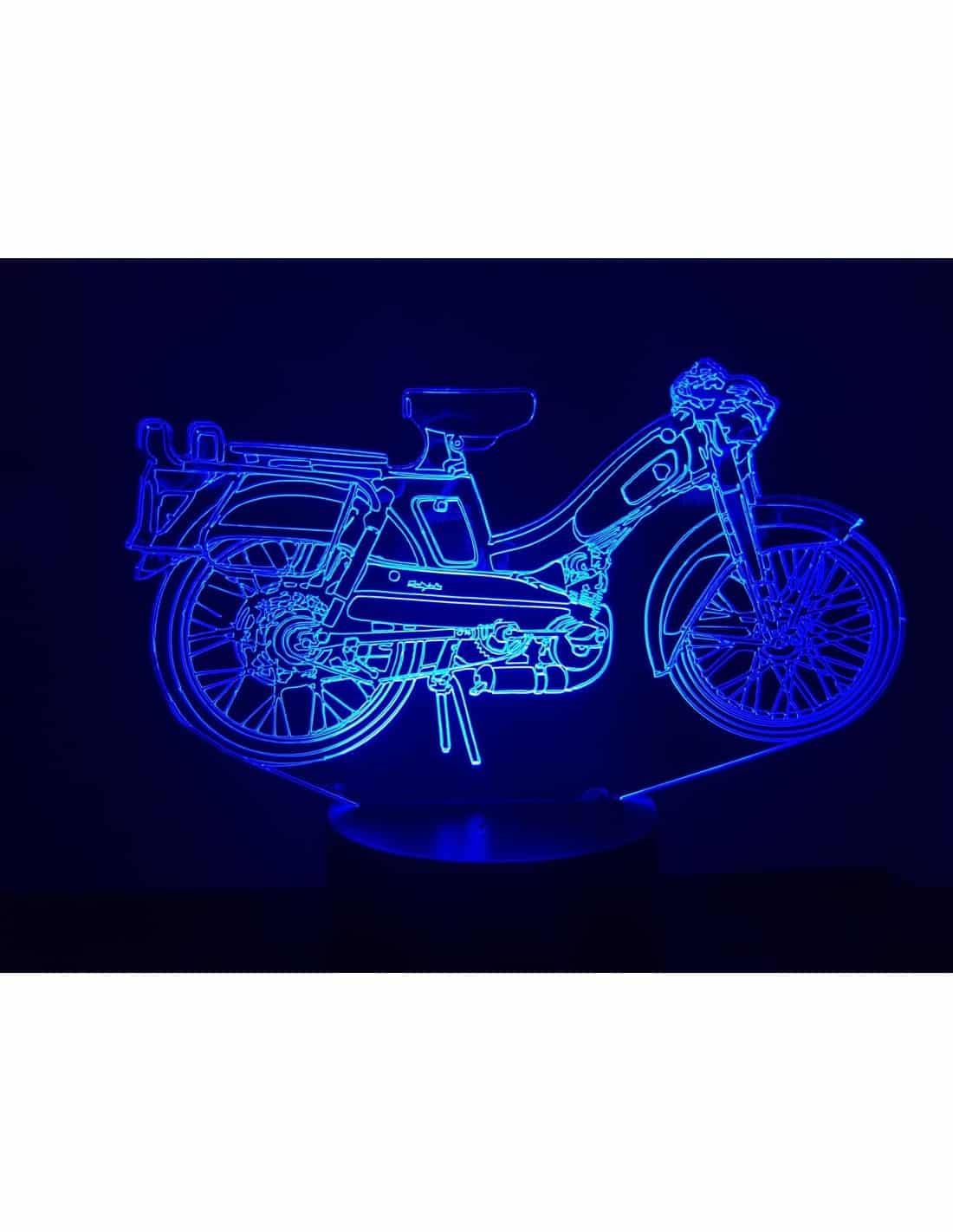 Motobecane Bleue 3D Illusion Led Lamp