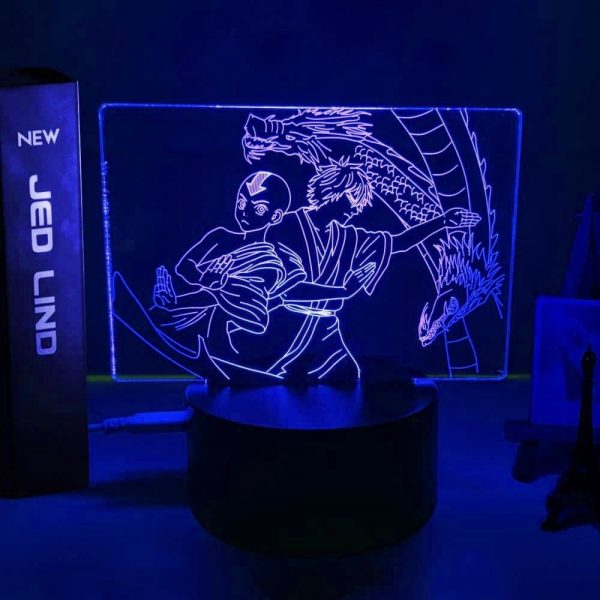 Aang and Zuko Dragon Dance Led Anime Lamp (Avatar the Last Airbender)