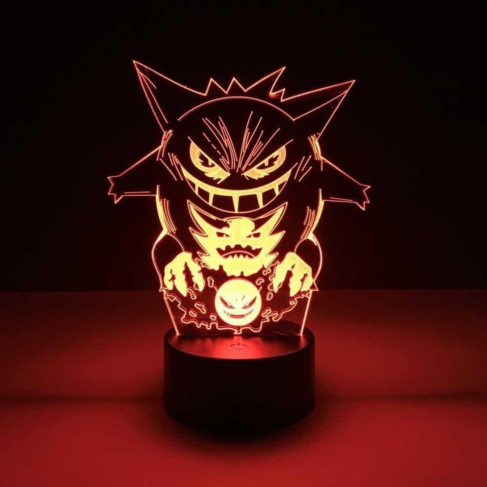Gengar vs Gastly vs Haunter Led Anime Lamp (Pokemon)