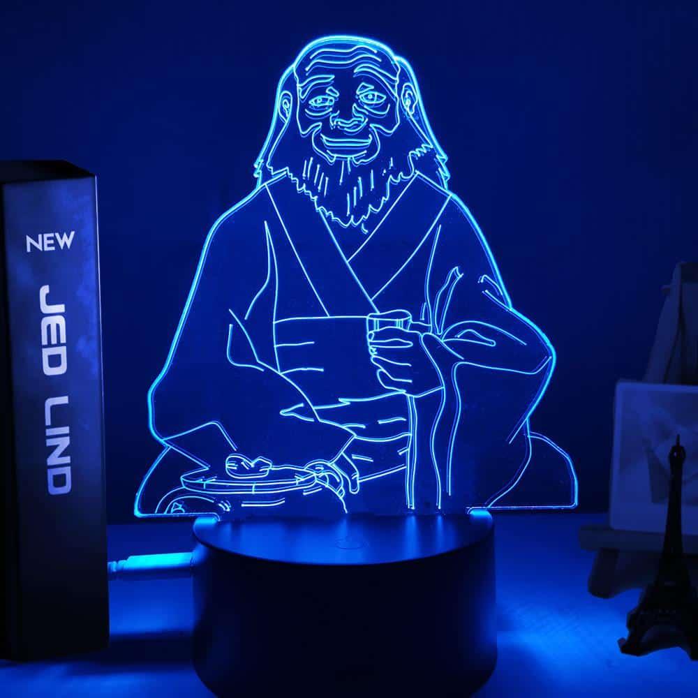 Uncle Iroh Tea Led Anime Lamp (Avatar the Last Airbender)