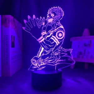 Ryomen Sukuna Led Anime Lamp 2 (Jujutsu Kaisen)