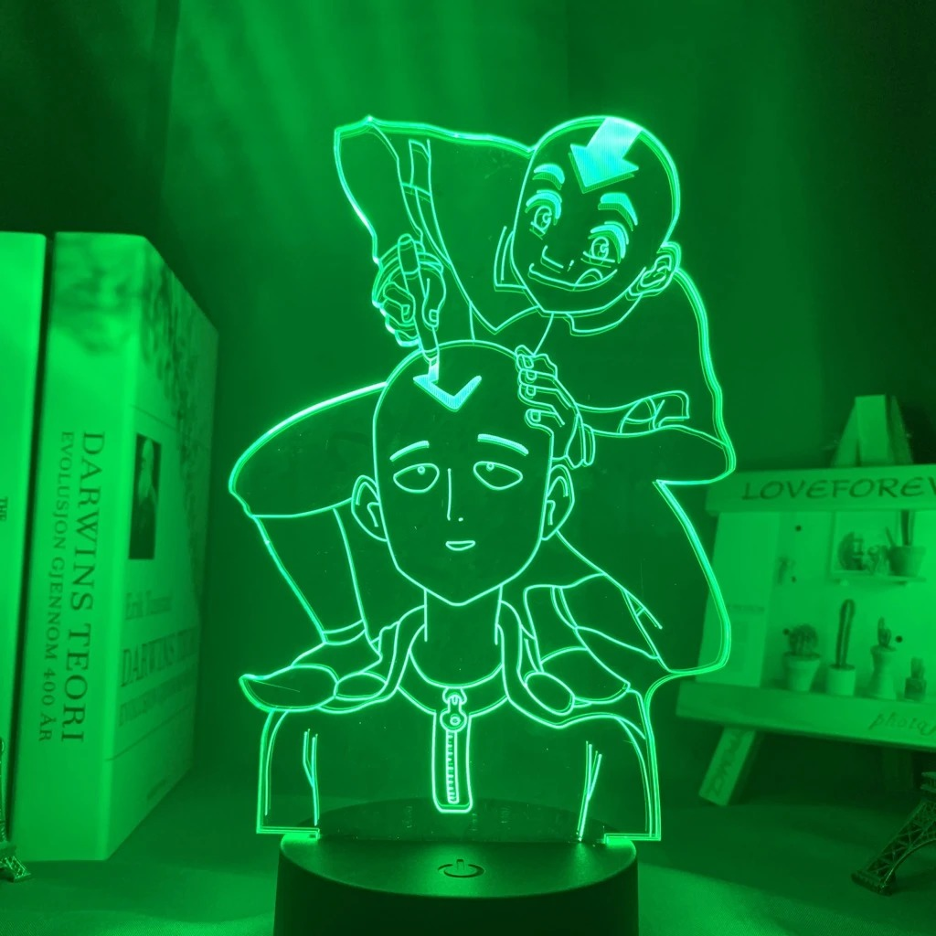 Saitama and Aang Led Anime Lamp (Avatar the Last Airbender – One Punch Man)
