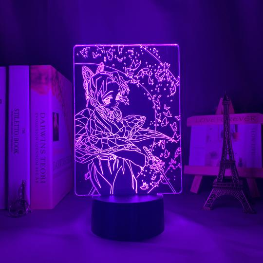 Shinobu Kocho-Insect Hashira Led Anime Lamp (Demon Slayer)