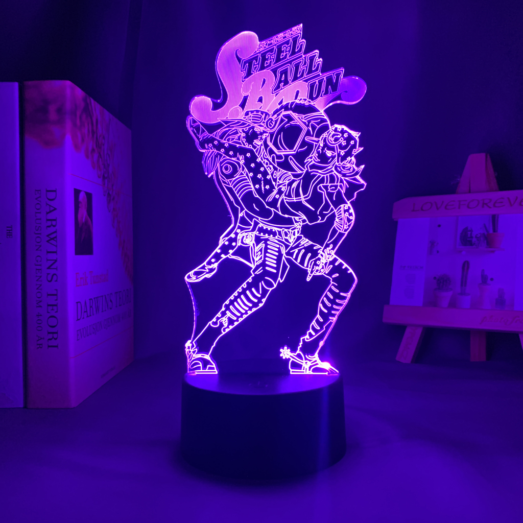 Steel Ball Run Led Anime Lamp