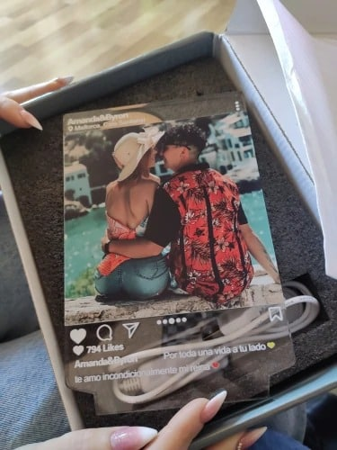 Instagram Style 3D Led Lamp Gift - Personalized Anniversary Gift photo review