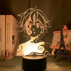 Shrek Face 3D Illusion Led Lamp