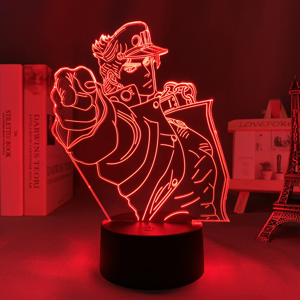Jotaro Kujo Led Anime Lamp (JoJo's Bizarre Adventure)