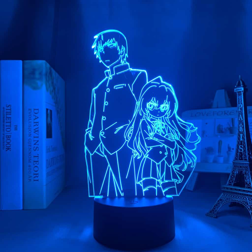 Ryuuji Takasu x Taiga Aisaka Led Anime Lamp (Toradora)