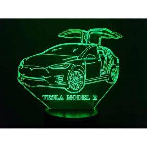 Tesla Model X 3D Illusion Led Lamp